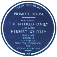 Whitley Belfield Blue Plaque - Primley House